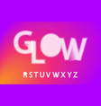 glow halftone font alphabet r s t u v w x y z vector image vector image