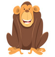 happy chimpanzee ape animal character vector image vector image