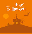 happy halloween card template vector image vector image