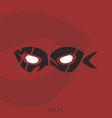 hero mask wordmark logotype vector image