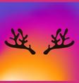 horns of a reindeer vector image vector image