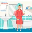 Hygiene Bathroom Interior Composition vector image vector image