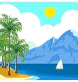 Idyllic sunny seascape vector image