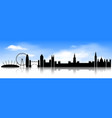 london skyline on blue sky background vector image