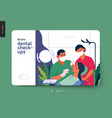 medical insurance template - routine dental vector image