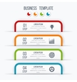 Modern infographics template with 4 options vector image vector image