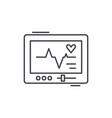 pacemaker line icon concept pacemaker vector image