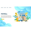 payroll website landing page design vector image vector image