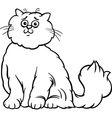 persian cat cartoon coloring page vector image