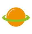 planet saturn space icon vector image