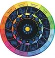 Rainbow Zodiac Wheel vector image vector image