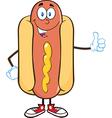 Sausage cartoon vector image vector image