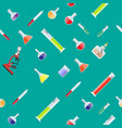 seamless laboratory equipment pattern vector image
