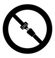 seat belt icon black color simple image vector image