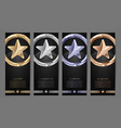 set black banners gold platinumsilver and vector image