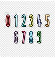 set colorful numbers cartoon kids figures number vector image vector image