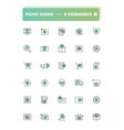 set of 30 line icons e-commerce vector image vector image