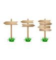 set wooden signpost vector image