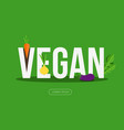 vegan banner with vegetables vector image vector image