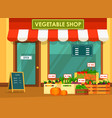 vegetable store showcase vector image vector image