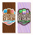 vertical banners for italian ice cream vector image vector image