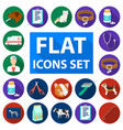 veterinary clinic flat icons in set collection for vector image vector image