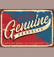 vintage sign for certified genuine product vector image