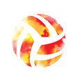 volleyball halftone sign vector image vector image