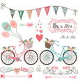 wedding bike elements vector image vector image