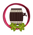 wine barrel isolated icon vector image vector image