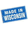 Wisconsin blue square grunge made in stamp vector image vector image