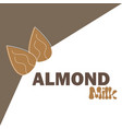 with almond milk lactose free vector image