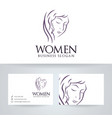 women logo design vector image