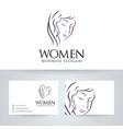 women logo design vector image vector image