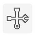 wrench icon black vector image