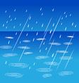 Rainy weather on street vector image