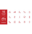 15 worker icons vector image vector image