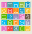 25 Trendy Thin Icons Set 2 vector image vector image