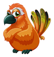 A scary-looking bird vector image vector image