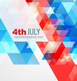 Abstract style 4th of july vector image