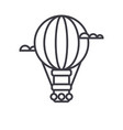 air balloonaerostat line icon sign vector image vector image