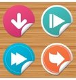 Arrow icons Next navigation signs symbols vector image vector image