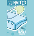 baby shower card you are invited vector image vector image