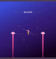 balance concept - modern isometric web vector image