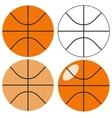 Basketball ball set vector image vector image