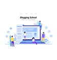 blogging and copywriting concept content vector image vector image