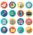 Business and office icons collection vector image vector image