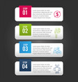 business infographic strategy report information vector image