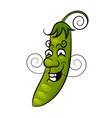 cartoon green peas vector image vector image