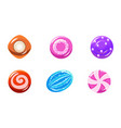 collection of colorful glossy candies sweets of vector image vector image